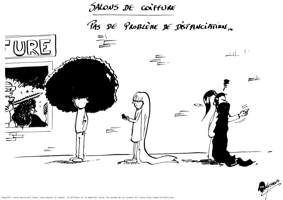 Déconfinement pour les coiffeurs