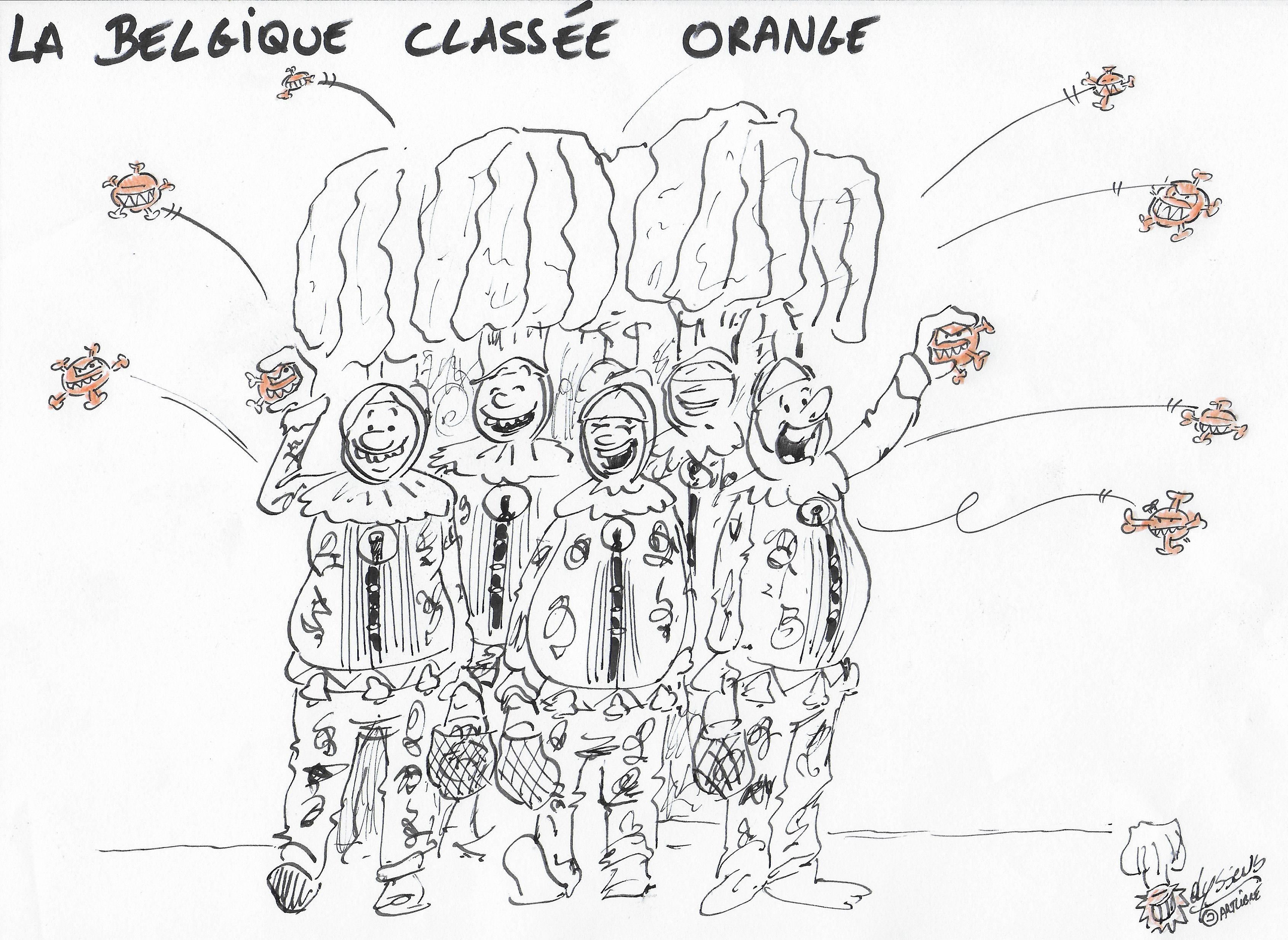 Covid 19 : la Belgique passe en orange